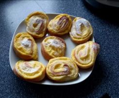 Variation von Puddingschnecken (vollständiges Rezept)