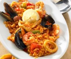 Mediterraner Meeresfrüchte-Reis mit Chorizo