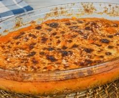 Überbackene Bolognese mit Kartoffel-Kürbis-Haube