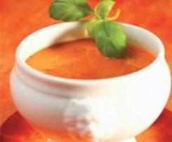 Variation von Tomatencremesuppe mit Mettenden