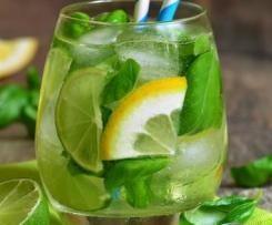 Basilikum-Zitronen-Limonade