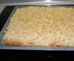 Streuselkuchen (Hefeteig) vom Blech wie von Oma
