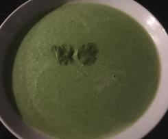 Erbsen-Koriander-Suppe
