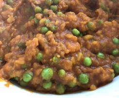Aloo Matar (Indisches Kartoffel- und Erbsen- Gericht) VEGAN