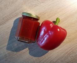 Paprika-Himbeer-Marmelade mit Chili