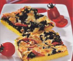 Polenta mit Spinat und Käse Finessen Rezeptheft 1/2012