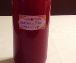 Erdbeer - Rhabarber - Sirup