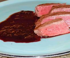 Heidelbeersauce für Wildgerichte oder Rinderfilet