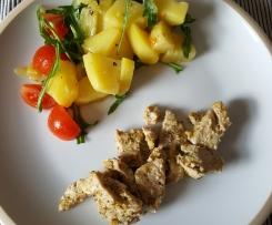 Hähnchen mit warmen Kartoffelsalat