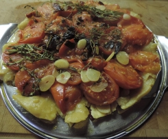Tarte Tatins aux Tomates (gestürzte Tomatentarte)