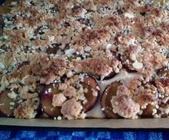 Fluffiger Pflaumenkuchen mit Streuseln