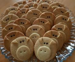 Mürbeteig Glücksschweine