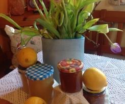 Zitronenmarmelade und Gelee