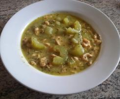 Lachs-Gurken-Suppe