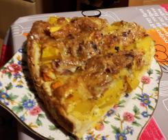 Kürbis Quiche