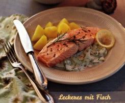 Lachs mit Kartoffeln und Schmandgurken (Finessen 6/2014)