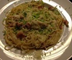 Variation von  Pasta Carbonara
