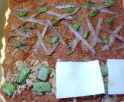 Sardellenpizza (südfranzösischer Zwiebelkuchen)