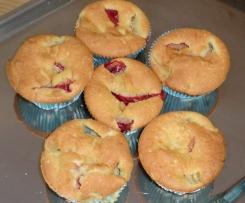 Erdbeer-Bananen-Muffins