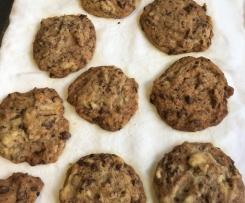 """cookies mit Schokostückchen vegane Variante aus dem """"das Kochbuch"""" ohne Ei <3"""
