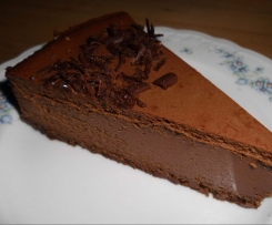 Schokoladen-Käsetorte - sehr schokoladig!