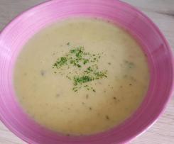 Kartoffel-Rettich-Champignon-Suppe / Topf
