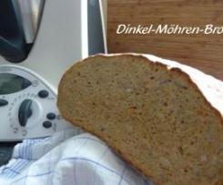 Variation von Dinkel-Möhren-Brot