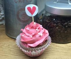Valentine Cupcakes ~Himbeer-Vanille~