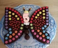 Schoko-Kuchen als Schmetterling