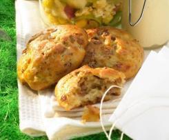 Zwiebel-Schinken-Käse Brötchen
