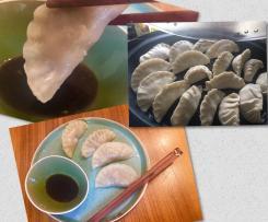 Dumplings mit Zucchini und Rinderhackfleisch