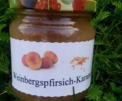 Weinbergspfirsich-Karamellmarmelade