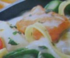 Spargel-Lachs-Pasta