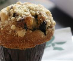 American Blueberry Muffins / Blaubeer Muffins Stracciatella