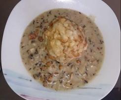 Champignon- Eierschwammerl Sauce
