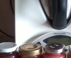 Johannisbeer-Nektarinen- MarzipanMarmelade mit Stevia