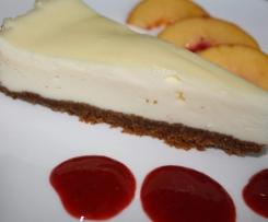 """Cheesecake """"New Yorker Art"""" Käsekuchen ohne zusammenfallen"""