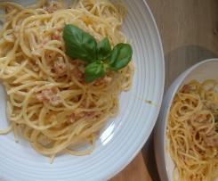 Spaghetti Carbonara - ohne Sahne - :-)