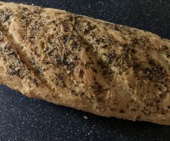 Baguette mit Kräuterkruste