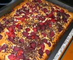 Himbeer-Blechkuchen ♥ süßes Kuchenglück ♥