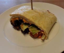 Variation von Bic Mac Wrap (Low carb Teig)
