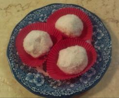 Sommerliche Kokosballen (kleine Törtchen)