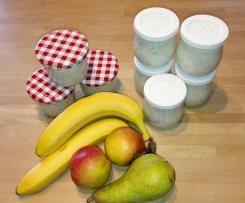Over night oats mit Apfel, Birne und Banane