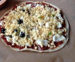 Pizzateig, dünn