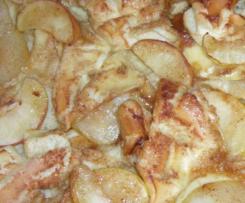 Apfelpfannkuchen vom Blech oder Ofen-Zauberer