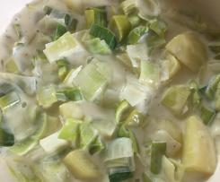 Kartoffel-Lauch (Porree)-Gemüse