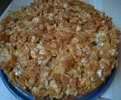 Kirsch-Cornflakes-Kuchen für Kinder