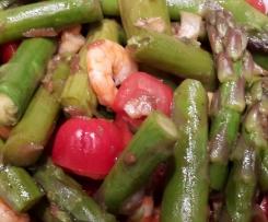 Spargelsalat mit Krabben und Balsamico Senf Vinigrette
