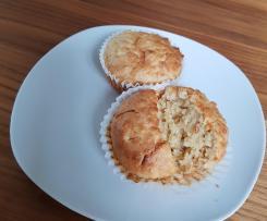 Apfelmuffins mit Hafer und Joghurt