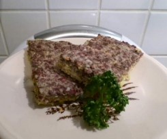 Lauch-Blutwurst-Frittata (low carb) im Varoma gegart